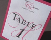 Custom Order-9 Single Sided Tent Classic Table Numbers