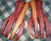 Salad Hands, red cedar, oil finish,, shipping included