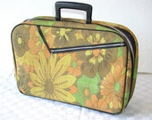 Vintage Small Flower Suitcase