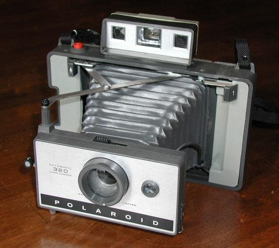 Polaroid 320 Land Camera - Vintage Instant Camera and COLD CLIP
