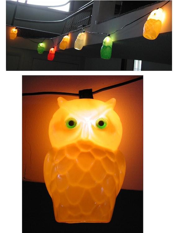 Vintage Owl String Of Lights Plastic Hanging Indoor