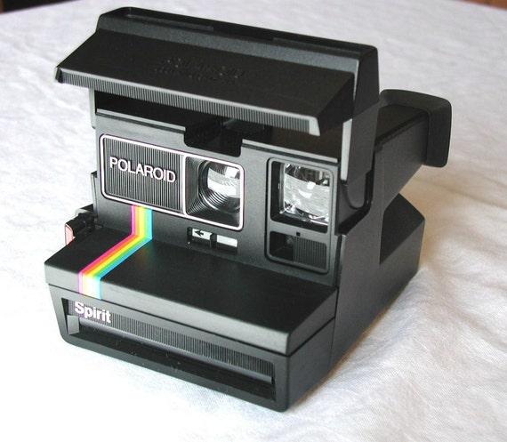polaroid spirit 600 land camera and neck strap vintage. Black Bedroom Furniture Sets. Home Design Ideas