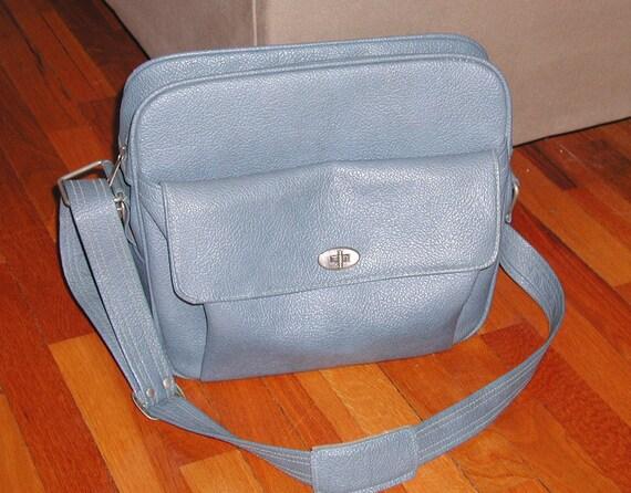 Vintage Samsonite Messenger Bag & KEY Royal Traveller Medalist BLUE Weekender