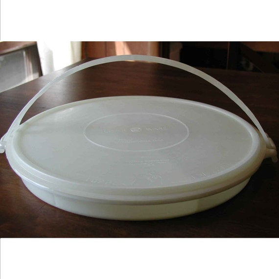 Sectioned Tupperware: 1954 Tupperware Millionaire Divided Tray WITH Lid AND Handle