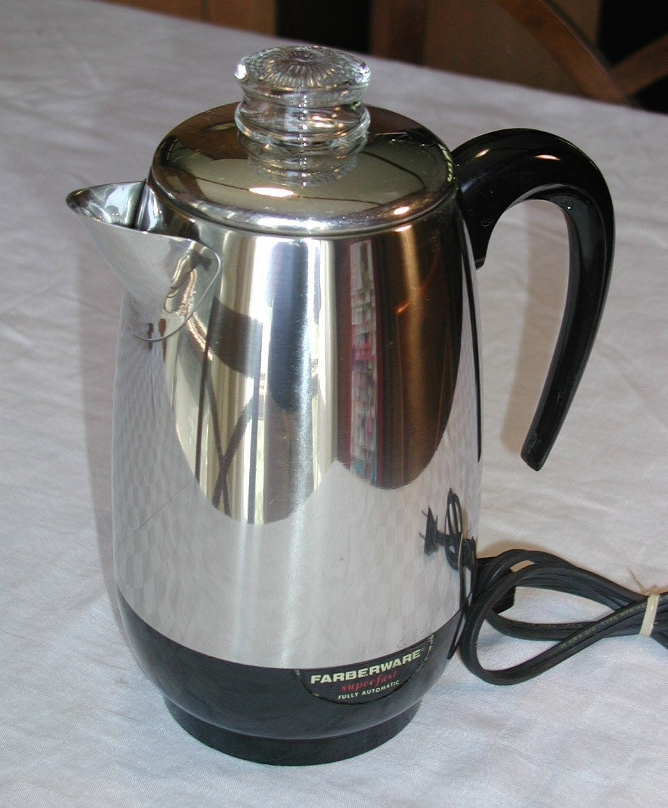 Farberware Automatic Coffee Maker Instructions : Farberware Superfast 8 Cup Percolator / by SunsetSideVintage