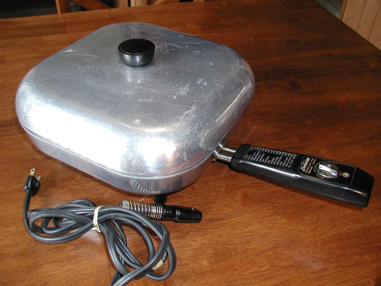 Vintage Sunbeam Electric Fry Pan Auto Skillet Fp 10a