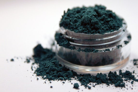 Mineral Eyeshadow and Liner Dark Teal - Lucky Shirt - Velvet Collection - 5 gram sifter jar