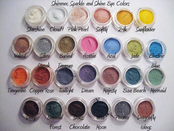 Try ANY 5 Samples of Mineral Makeup - Eyeshadow, 3-in-1, Foundation, Veil, Blush - You Choose - Free Shipping
