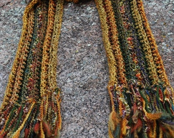 Prelude to Autumn blended yarn scarf