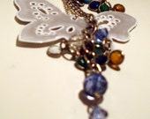 Hand bag charm with safety reflector- custom order