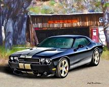 Muscle Car - 2013 Dodge Challenger SRT8 - 392 Hemi, 8x10 print, 11x14 White mat, AW19