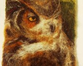 Great Horned Owl Profile 3 3/4 in. X 5 in. image