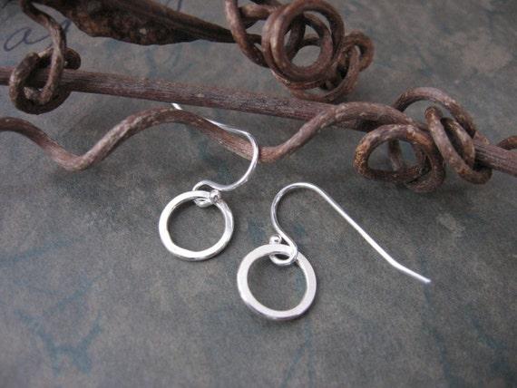 Reserved for Carol - TINY sterling hoop