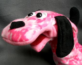 Rose Dog Hand Puppet