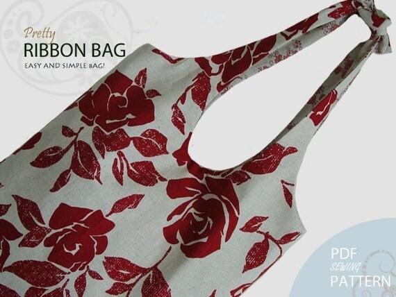 EY,161,Ribbon Bag PDF Sewing Pattern - 2 Free Clutch Patterns