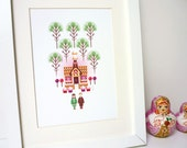 Hansel and Gretel // Fairy Tale Giclee Art Print