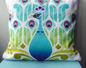 Contemporary Peacock Print Cushion/Pillow  FREE SHIPPING