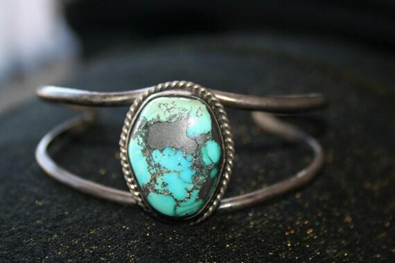 Huge SALE Vintage Sterling Silver  Native American Navajo Indian  Bracelet  Cuff , Unisex