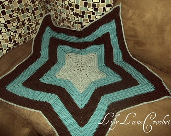 Baby Crochet Star Blanket Room Rug Decor You Choose Your Colors