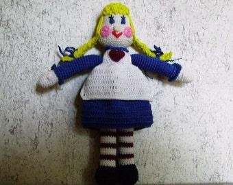 Bonnie's Crochet Cotton Thread Item Mini Blonde RagTime  Doll /Not A Toy