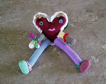 Bonnie's Crochet Cotton Thread Item ButterFly/Heart Doll/ Not A Toy