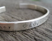 Personalized Sterling Silver Cuff Bracelet