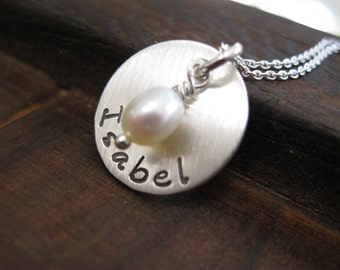 Personalized Hand Stamped Sterling Silver I've Been  Brushed  With  Love