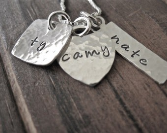 Custom Hand Stamped Sterling Silver  Necklace Love you Lots