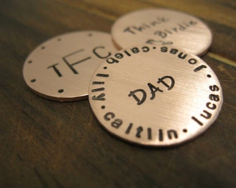 Copper Hand Stamped Golf Ball Marker (1)