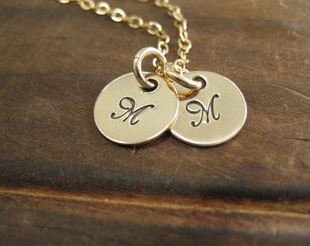 Personalized Tiny Token Gold Filled Necklace