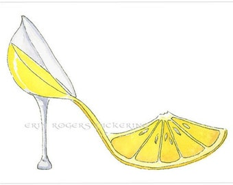 Lemoncello Shoe Art 5x7 print