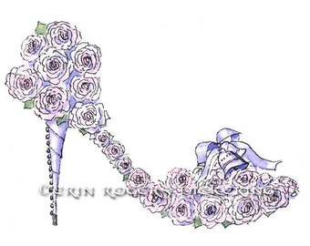 Wedding Bouquet Fantasy Shoe 5x7 print