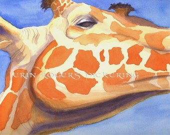 Giraffe Portrait 8x10 Print