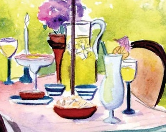 Margarita Party for Two Dining Alfresco 5x7 Print