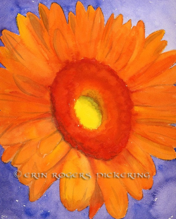 Gerbera Daisy in Orange 8x10 Print
