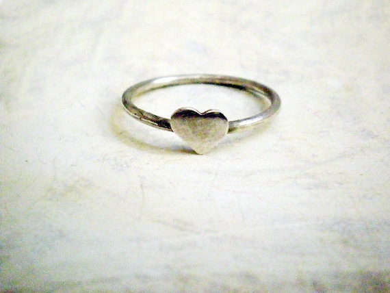 3 Sterling silver heart rings - My silver heart ring