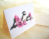 Note cards- From Chickadee original watercolor, Set of 8
