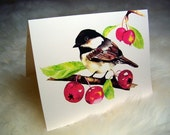 Note cards- From Chickadee original watercolor series, Set of 8