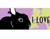 I Love My Bun Bumper Sticker - Original design