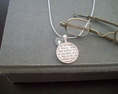 "Book Text- Pride and Prejudice- Jane Austen- buy two get one free- includes a 16"" or 18"" snake chain- READY TO SHIP"