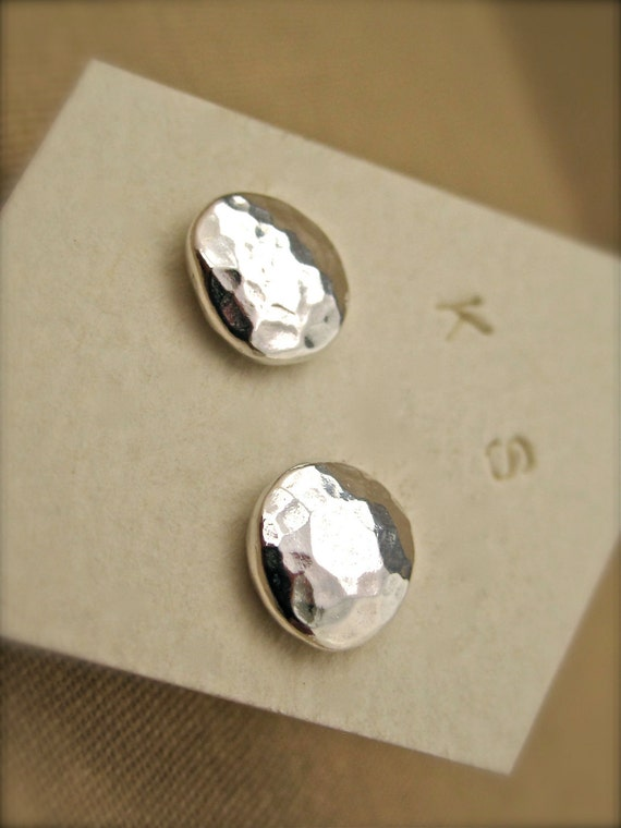 Fine Silver Stud Earrings