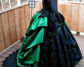 Gothic Victorian Bustle Gown/Dress Steampunk Costume