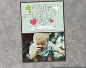Faith Hope Love - Custom Photo Christmas Card