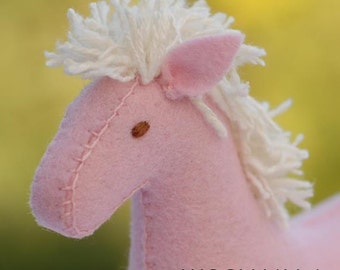 Felt Horse Pattern PDF -  Instant Download