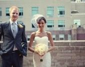 Bridal Veil, Wedding Veil, Birdcage Veil -- Hannah's Veil -- Seen in STYLE ME PRETTY Blog