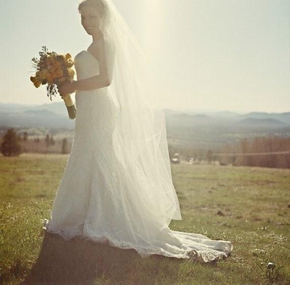 Wedding Veil, Bridal Veil, Traditional Wedding Veil -- Tulle Bridal Veil