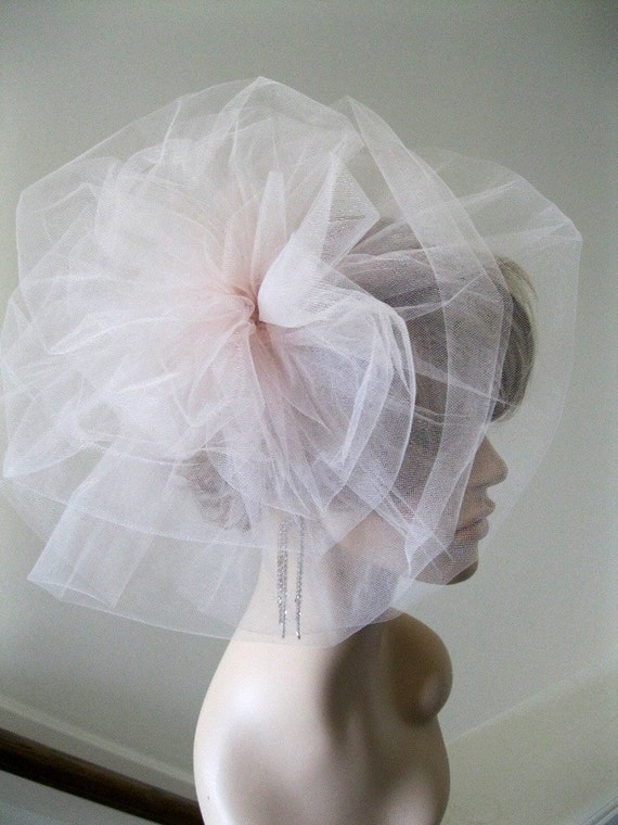 RESERVE.  Wedding Headpiece --Shaped into a Flowerette with added Blusher