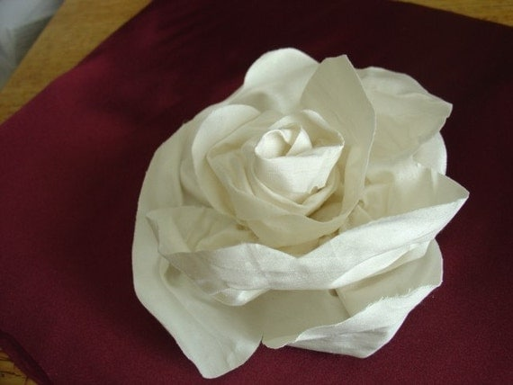 Reserve for EBLIVEN--FREE SHIPPING A Dupioni Silk Flower  (Ouantity Discount available)