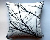 "BRANCHES throw pillow case (15"" square)"