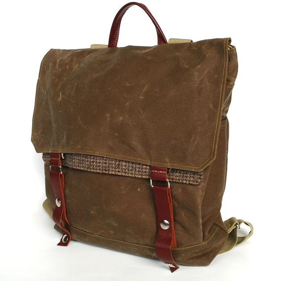RESERVED FOR CHRIS - Waxed Canvas Backpack